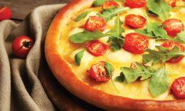 Pizza de Queijo com Rúcula
